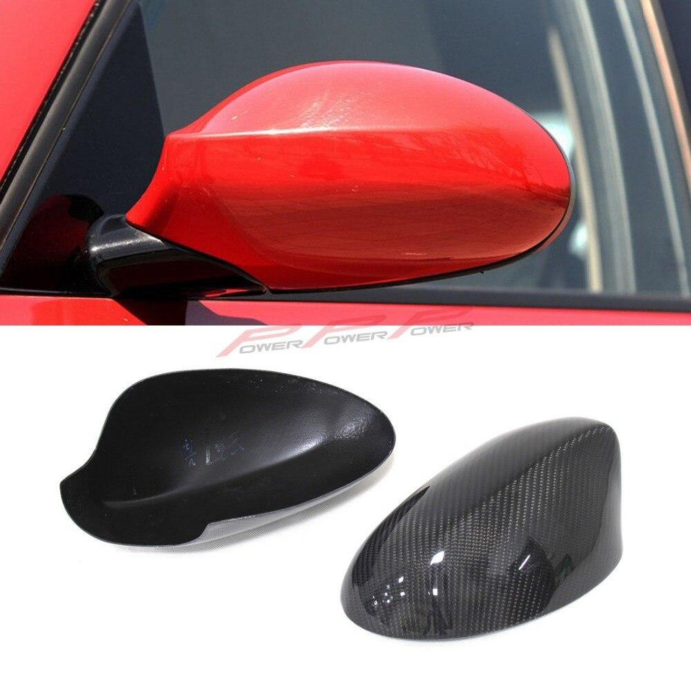 For BMW E82 E87 Carbon Fiber Mirror Cover Add on style E87 E82 carbon fiber rear side view mirror cover Pre-Lci 2007 2008 2009