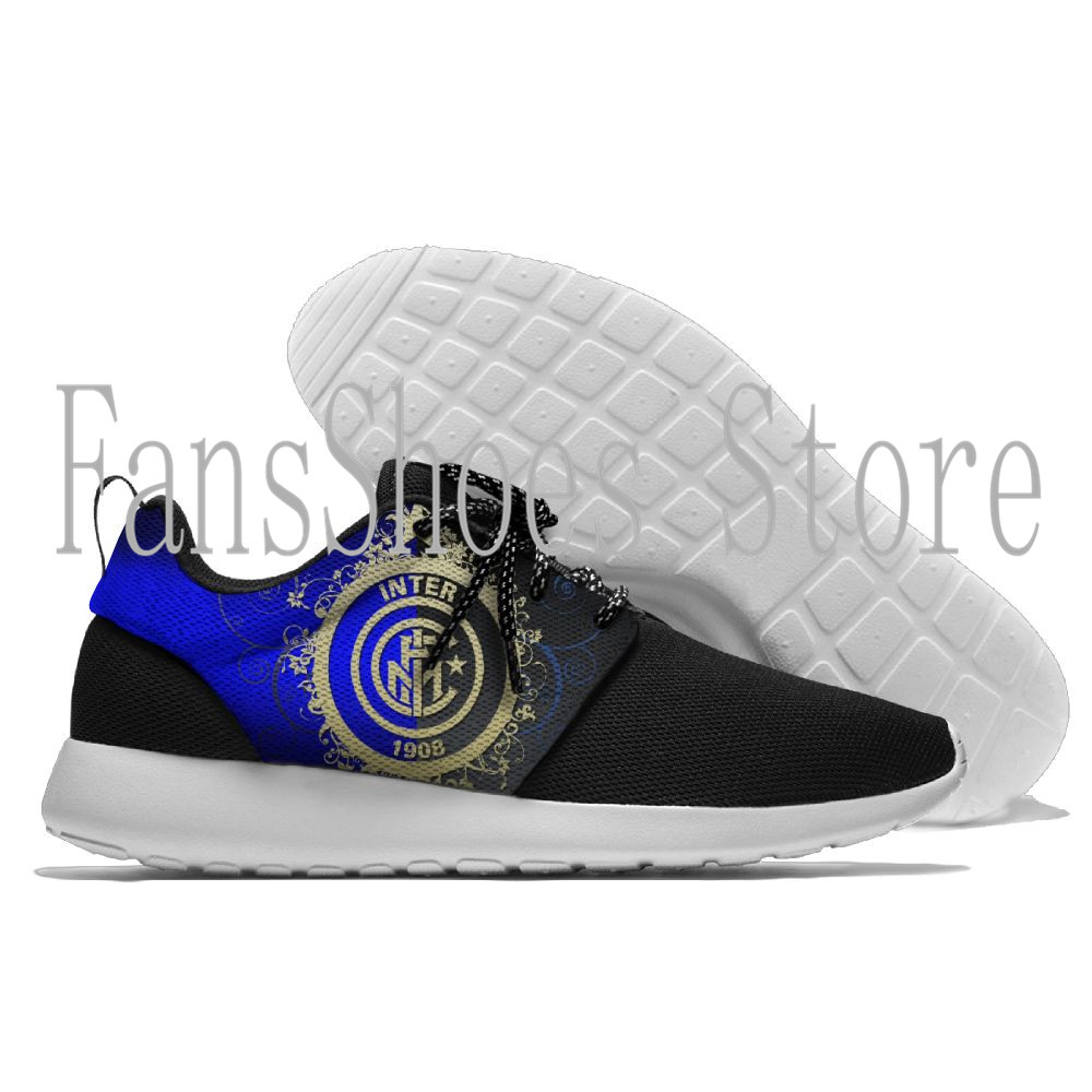 Inter Milan football team soccer shoes light breathable soft insole for outdoor trekking walking running sneakers