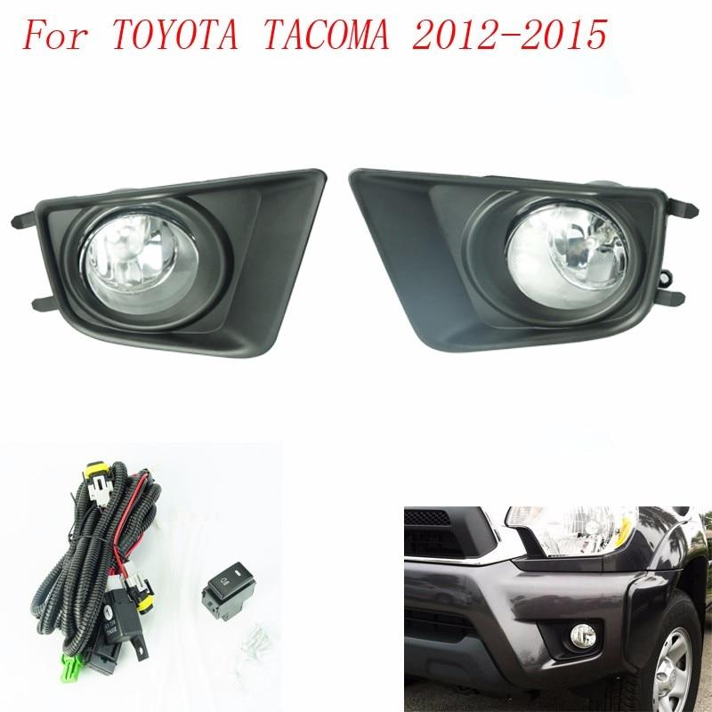 fog light for toyota tacoma 2012 2015 fog lamps clear yellow lens. Black Bedroom Furniture Sets. Home Design Ideas
