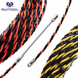 Dispositivo de rosqueamento eletricista 5/10/15/20/25/30/50 m cabo fio extrator chumbo rede fio elétrico threader construção mão ferramenta