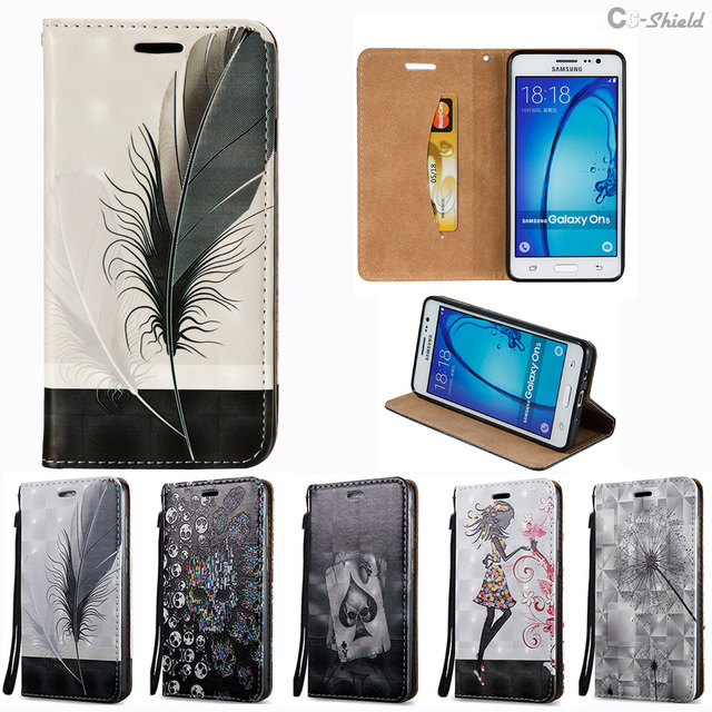3D Flip Case for Samsung Galaxy On5 On 5 Pro Duos G550T1 SM-G550T1 G550T SM-G550T G550FY SM-G550FY Case Phone Bag Leather Cover