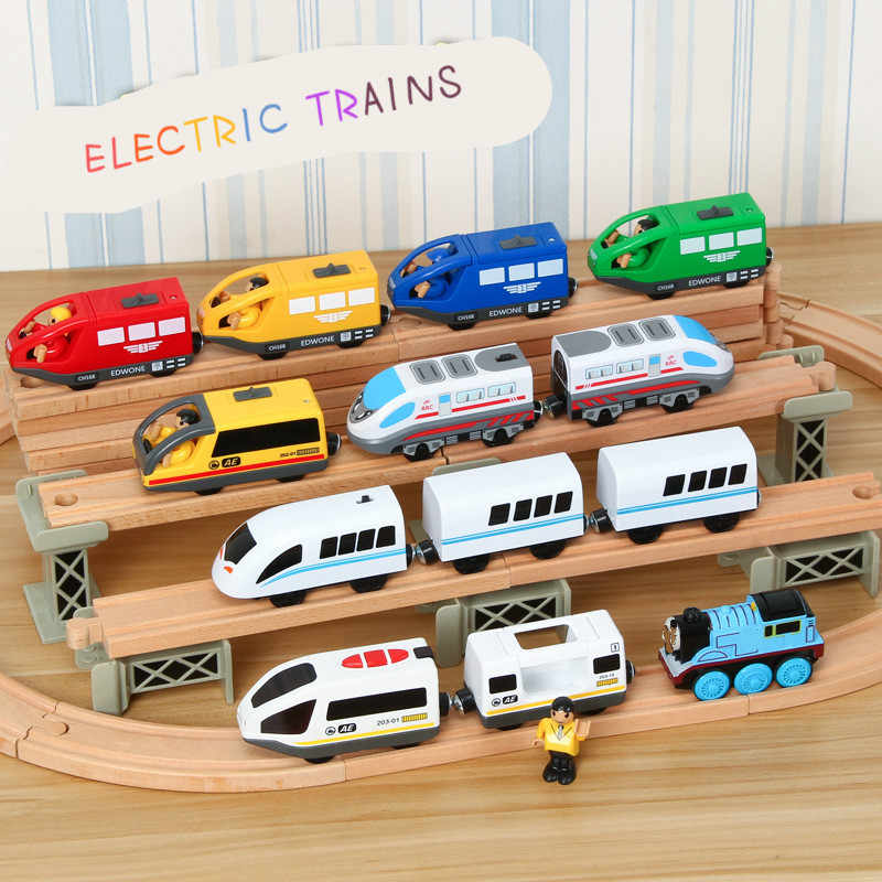 EDWONE All Kinds of Electric Train Magnetic Car Track Railway Accessories Educational DIY Original Toy Gifts For Kids Fit Thomas