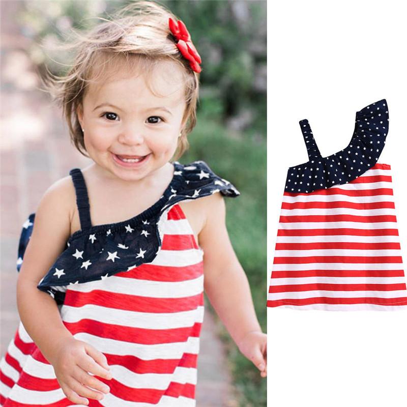 HTB1q.oeKkKWBuNjy1zjq6AOypXa0 - Baby Girls Infant Kids 4th Of July Star Dress Clothes Sundress Casual Sets T#