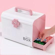 Medicine box family medical small box large child first aid kit medicine storage все цены