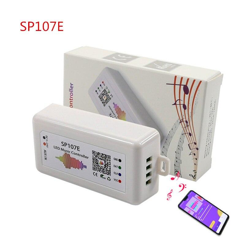 SP105E SP106E SP107E SP110E Symphony Bluetooth Music Controller WS2812 WS2801 APA102 Pixel Strip Light With Controller DC5-24V