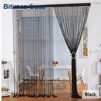 Novo estilo espiral cor sólida string cortina de porta cortina gancho quarto divisor com tinsel borla w100l200 decoração para casa