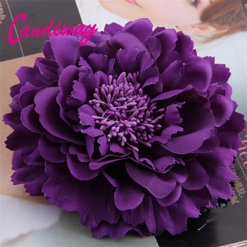 2017 New Arrival Dark Purple High Quality Flower Hair Clip - Հագուստի պարագաներ