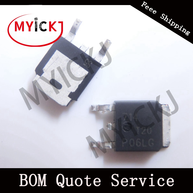 5PCS NTD20P06LT4G TO-252  Power MOSFET −60 V, −15.5 A, Single P−Channel, DPAK IC CHIP