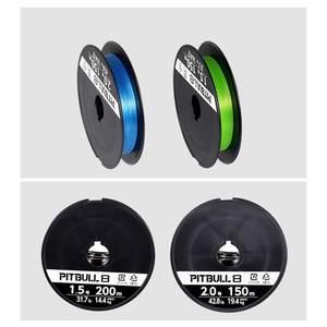 Image 3 - Originele Shimano Vislijn Pitbull 150M X4/X8/X12 Pe Gevlochten Lijnen Groen/Blauw Gemaakt in Japan Hoge Sterkte En Zachte