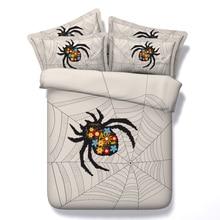 new arrival cool spider web 3d printed 4 pcs duvet cover set bedspreads twin queen super