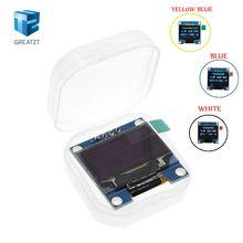 10 قطعة أبيض أزرق اللون 0.96 بوصة 128X64 OLED وحدة عرض الأزرق الأصفر OLED وحدة عرض لاردوينو 0.96 IIC SPI التواصل