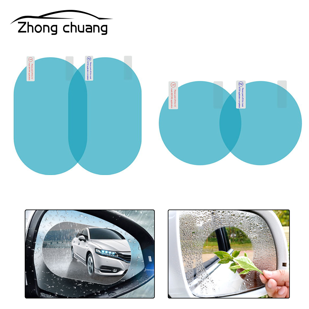 2Pcs Car Rearview Mirror Protective Film Anti-fog Window Clear Rainproof Rearview Mirror Protection Soft Film Auto Parts