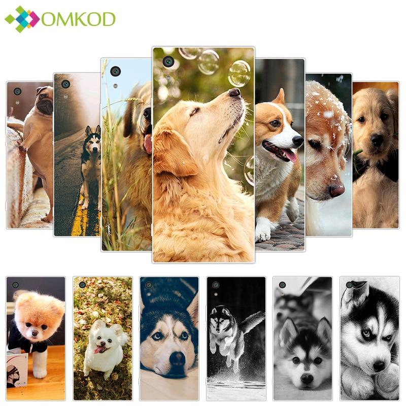 Silicone Cute Dog Cover for Sony Xperia XA1 Z6 G3121 Soft Phone Coque for Sony Xperia XA1 Case for Sony Xperia XA1 Z6 Z 6 Fundas