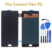 "5.5 ""AMOLED תצוגה עבור Lenovo Vibe P2c72 P2a42 P2 LCD + מגע מסך חיישן עצרת החלפה עבור Lenovo Vibe p2 תיקון חלק"