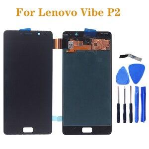 """Image 1 - 5.5 """"SCHERMO AMOLED display Per Lenovo Vibe P2c72 P2a42 P2 LCD + sensore touch screen assembly di ricambio per Lenovo Vibe p2 parte di riparazione"""