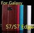 Para Samsung Galaxy caso S7 tampa Flip couro genuíno carteira para Samsung Galaxy S7 S7 borda com suporte titular função