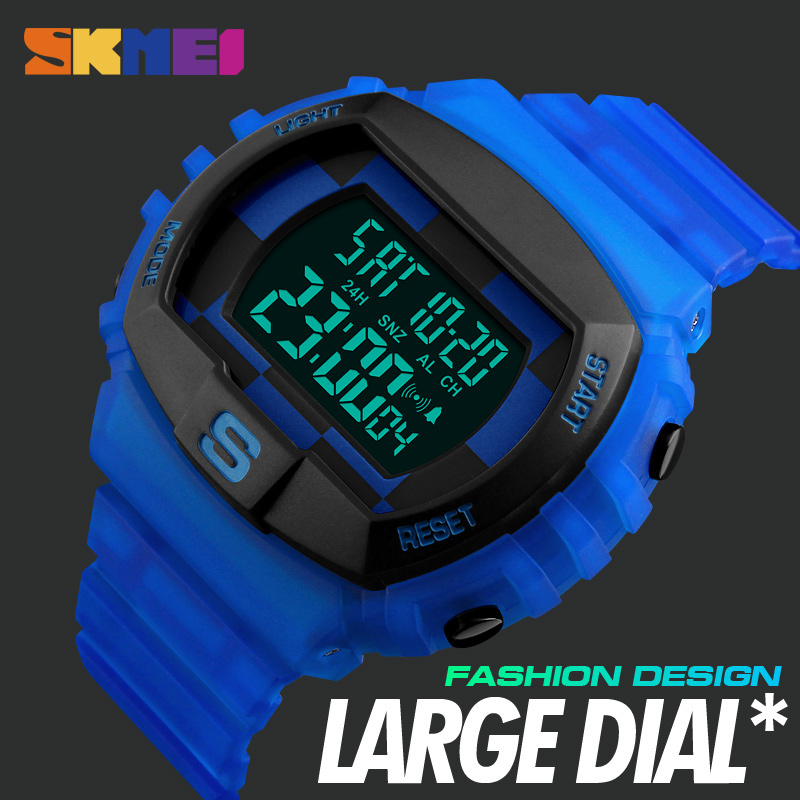 New 2019 Outdoor Sport Watch for Mens Top Brand Luxury Military LED Digital Wrist Watches Male Clock Relogio Masculino Skmei1304 image
