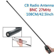 ABBREE טקטי אנטנה 27Mhz 72/108CM CB נייד רדיו עם BNC מחבר עבור קוברה מידלנד Uniden Anytone CB רדיו