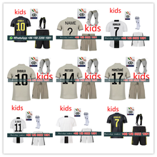 adaf8dc8150 2018 2019 juventuses kids kit +sock + all patches soccer jersey dybala  ronaldo mini baby football shirt free shipping