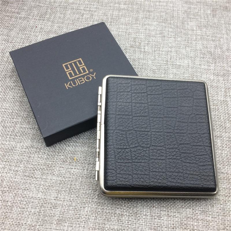 Men/'s Leather Bi-fold Wallet ID Credit Card Holder Silver Money Clip Slim design