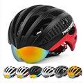 Casco de Ciclismo MTB con gafas 3 lentes 27 ventosas Casco de bicicleta de carretera Casco de bicicleta MTB hombre la carrera de bicicleta