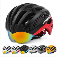 MTB Helmet Cycling Helmet With Goggles 3 Lens 27 Vents Casco Ciclismo Road Bike Helmet Bicycle Helmet MTB Man Men's Race Bike