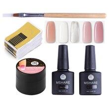 Get more info on the MSHARE UV Gel Nail Builder Set 5pcs White Clear Pink Polygel Nails Form Art Model Poly Gel Nail Extension Gel Varnish