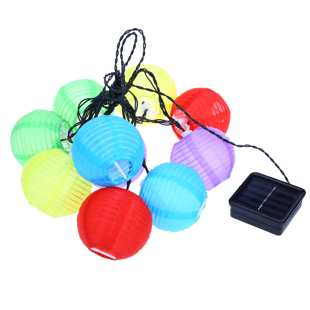 led outdoor lantern ball solar string lights fairy globe christmas lights decorative lights for party holiday decorations in led string from lights