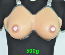 Silicone Fake False Breast chest prosthesis 34A/36A-38AA 500g