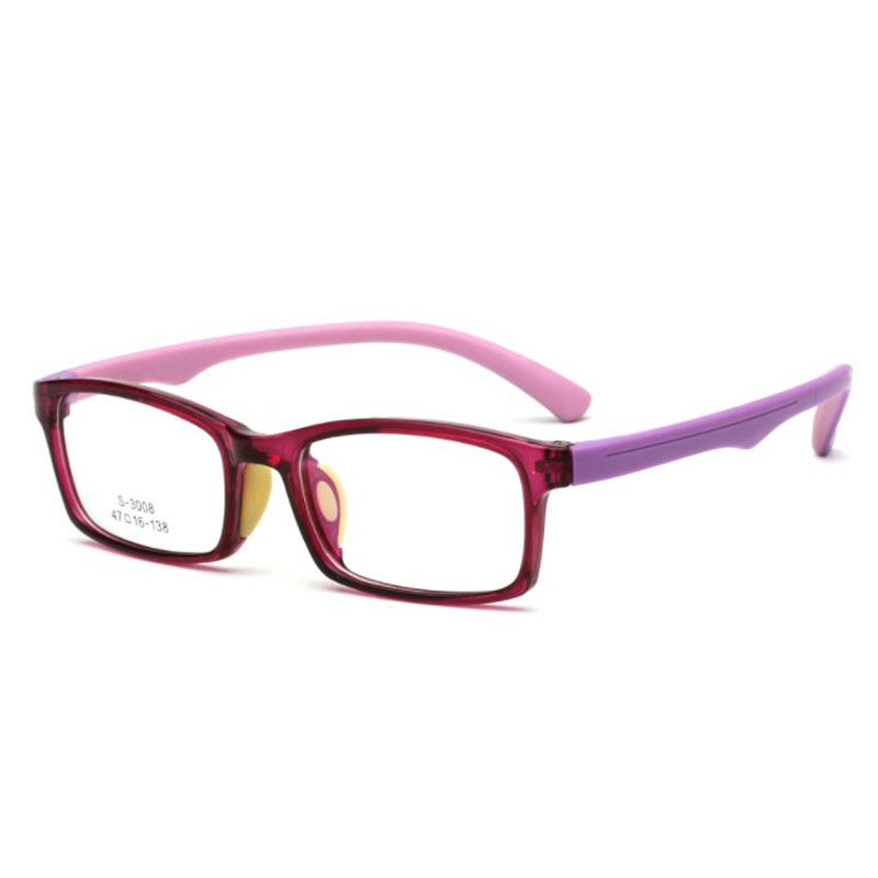 2019 New arrival TR90 Children Square Myopic Eyeglasses Frame Fashion Boys and Girls Opitcal Frames Plain Glasses in Men 39 s Eyewear Frames from Apparel Accessories