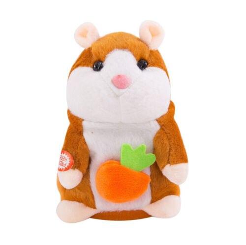 Прекрасный хомяк говорящая мышь плюшевая игрушка для питомца рождественские подарки для детей Высокое качество - Цвет: Light Brown