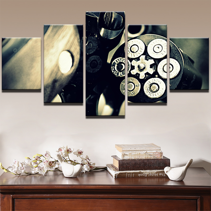 Modern Abstract Painting Printed Photo Wall Pictures Frame For Living Room Decorative 5 Panel Movie Game HD Canvas Poster in Painting Calligraphy from Home Garden