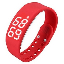 1pc New High Quality Waterproof 2W 3D LED Pedometer Health Temperature Sport Watch Fitness Sleep Activity Log Calorie Counter
