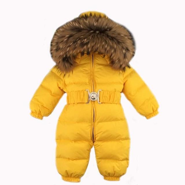 eec10e4609c5 9 color Down Romper yellow snowsuit Waterproof Windproof Snow Wear ...
