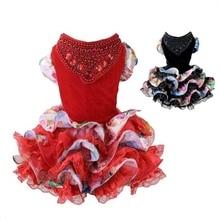 Autumn Winter Luxury Pet Wedding Dress Dog Dresses for Small Dogs Princess Cat Skirt clothes