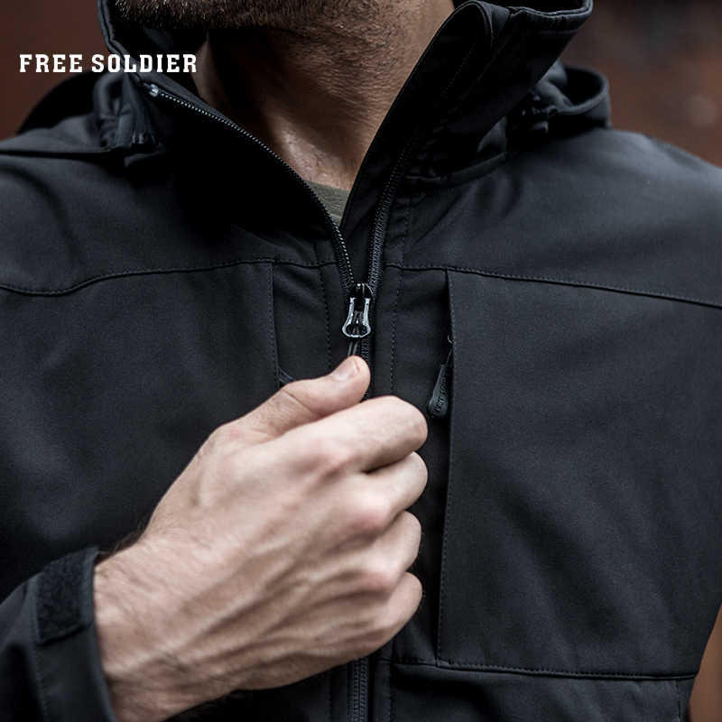 Free soldier jaquetas esportes ao ar livre camping caminhadas tactical água-instant desapertar à prova de vento e quente lining jaqueta/casaco
