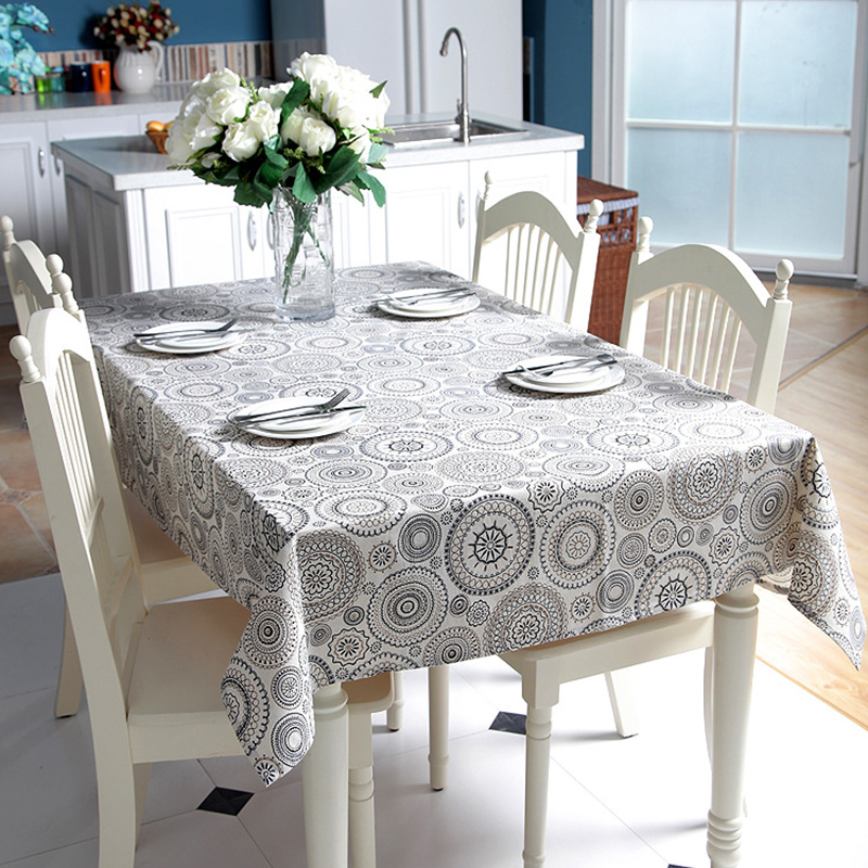 polyester table cloth desk tablecloth simple retro table. Black Bedroom Furniture Sets. Home Design Ideas