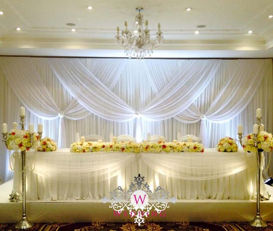 Deluxe Pure White Wedding Backdrop with beautiful swags stage curtain Wedding DecorationDeluxe Pure White Wedding Backdrop with beautiful swags stage curtain Wedding Decoration