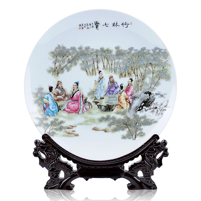 Antique Chinese Jingdezhen Ceramic decorative plate hanging plate Figure Qixian home decoration products free shipping  sc 1 st  AliExpress.com & Antique Chinese Jingdezhen Ceramic decorative plate hanging plate ...