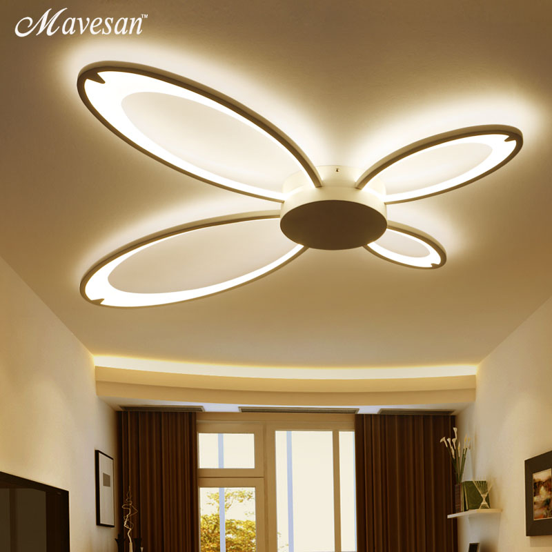LED Ceiling Lights with brightness dimmer Living Room luminaria abajur Indoor Lights Fixture For Home Decorative Lampshade