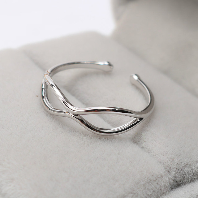 Promotion Simple Digital 8 Silver Rings Jewelry Fashion Engagement Anillos Bridal Wedding Finger Open