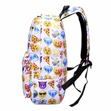 2Pcs/set Smile Women Backpack Nylon Large Capacity Travel Backpack Fashion Emoji Backpacks For Teenager Girls Student Schoolbag