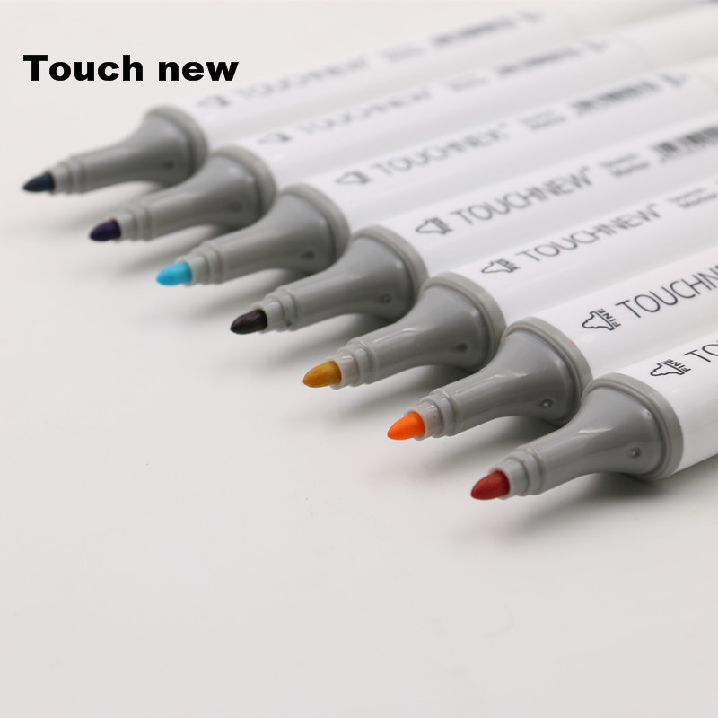 Touchnew 60 Colors Art Marker artistic sketch markers Double Tips alcohol based Professional Drawing Painting touchnew 60 colors artist dual head sketch markers for manga marker school drawing marker pen design supplies 5type