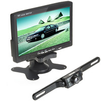 7 Inch Color TFT LCD 2 Video Input Car Monitor 420TVL CMOS Wireless Car Rear View