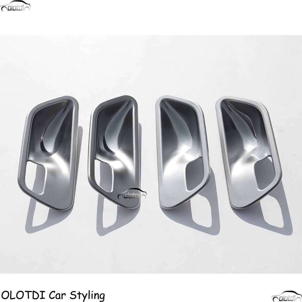 Car Styling 4Pcs Interior Door Handle Cup Bowl Cover Trim Stikcers For BMW 3 4 Series f30 f32 f35 316i 318i 320li 2013-2017