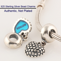 Fits For Pandora Bracelets Mother and Son Charms 100% Sterling Silver Beads Free Shipping