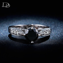 Wedding Rings for Women White 585 Gold color jewelry luxury rings Engagement Obsidian bague zirconia Accessories bijoux HH243