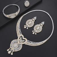 SISCATHY 4PCS Bridal Wedding Jewelry Sets For Women Luxury CZ Dubai Nigerian Women Bijoux Ladies Lover Mother Anniversary Party