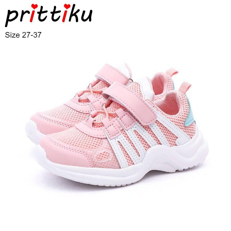 Autumn 2018 Toddler Girls Boys Air Mesh Sneakers Little Kid Pink Casual Trainers Big Children School Sport Brand Running Shoes teva orginal universal kids sport sandal toddler little kid big kid