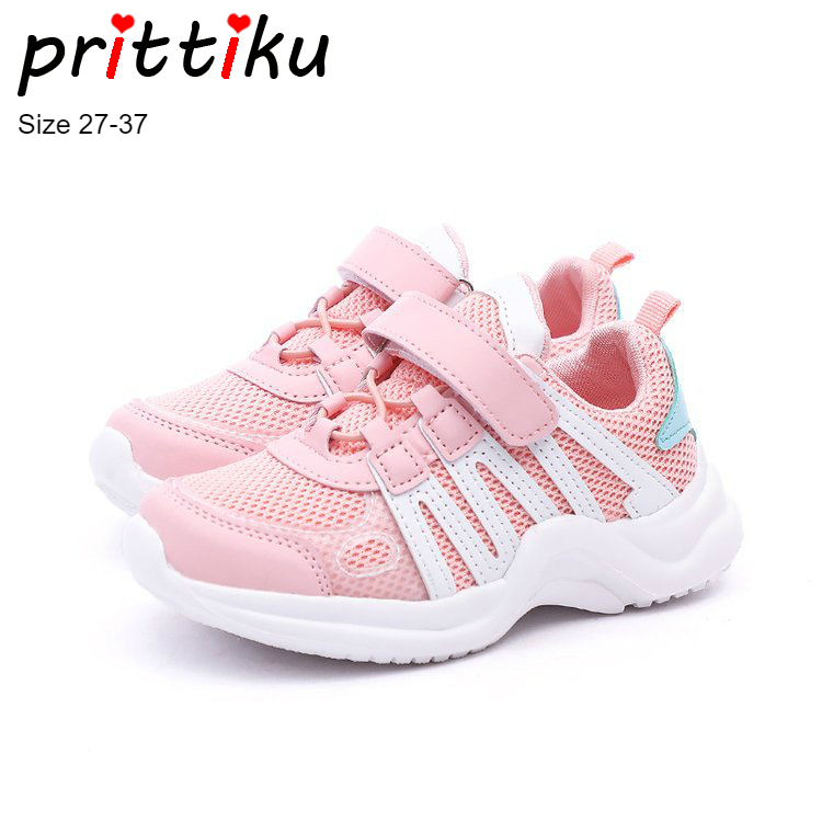 Autumn 2018 Toddler Girls Boys Air Mesh Sneakers Little Kid Pink Casual Trainers Big Children School Sport Brand Running Shoes